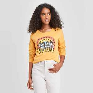 Women's The Beatles Graphic Sweatshirt - Mustard