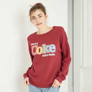 Women's Enjoy a Coke Graphic Sweatshirt - Red