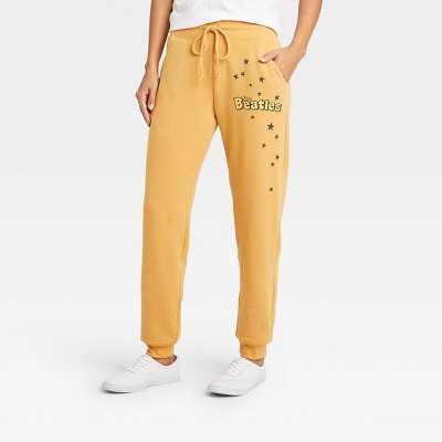 Women's The Beatles Jogger Pants - Honey Gold