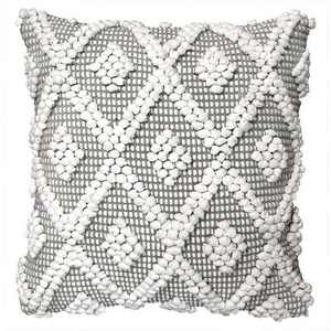"20""x20"" Oversize Adelyn Square Throw Pillow Cover Gray - Lush Décor"