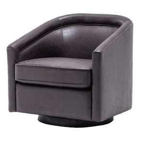 eLuxury Modern Swivel Faux Leather Accent Chair