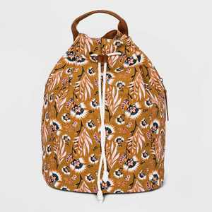 Floral Print Bucket Drawstring Closure Backpack - Universal Thread™