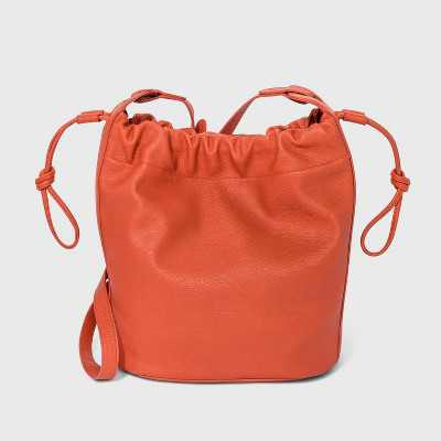 Drawstring Closure Crossbody Bag - Universal Thread™ Orange