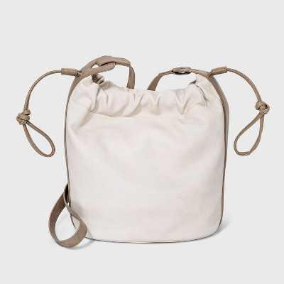 Drawstring Closure Crossbody Bag - Universal Thread™ Bone