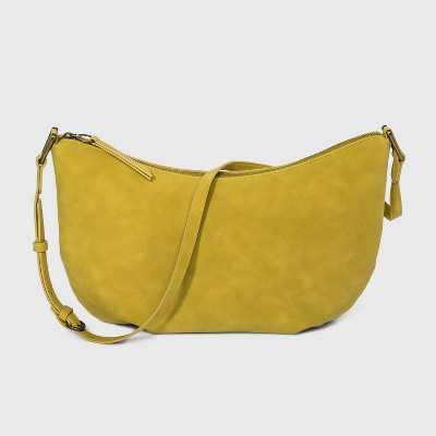 Soft Sling Zip Closure Crossbody Bag - Universal Thread™ Citrus Yellow