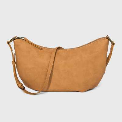 Soft Sling Zip Closure Crossbody Bag - Universal Thread™ Cognac