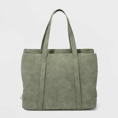 Zip Closure Triple Compartment Tote Handbag - Universal Thread™ Green