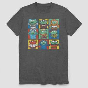Men's Pixar Grid Short Sleeve Graphic T-Shirt - Gray