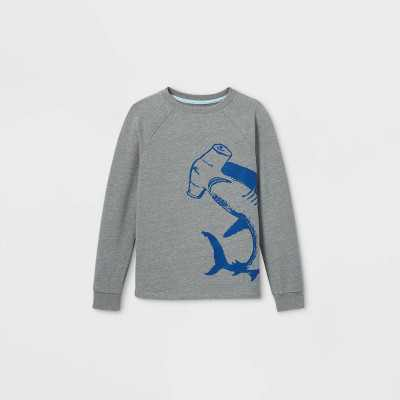 Boys' Hammerhead Shark Pullover Sweatshirt - Cat & Jack Gray