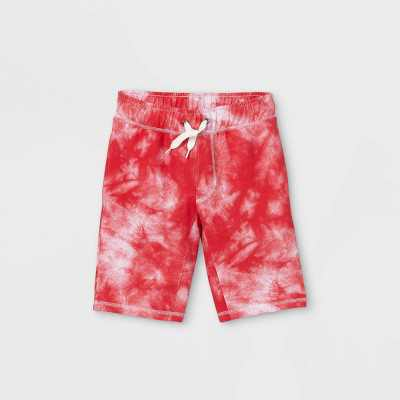 Boys' Tie-Dye Pull-On Shorts - Cat & Jack Red/White