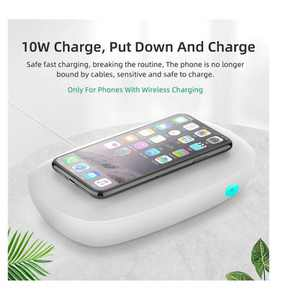 UVC Phone Cleaner Sanitizer and Sterilizer Disinfection Box, with 10 Watts Wireless Charging, 360 degree Sterilization, Odor Removal and Aroma