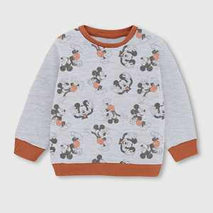 Toddler Boys' Mickey Mouse Fleece Crewneck Sweatshirt - Beige