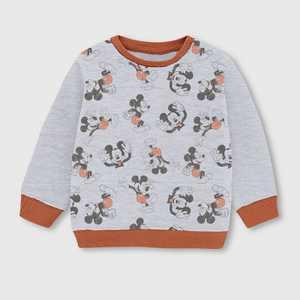 Toddler Boys' Mickey Mouse Fleece Crewneck Sweatshirt - Beige