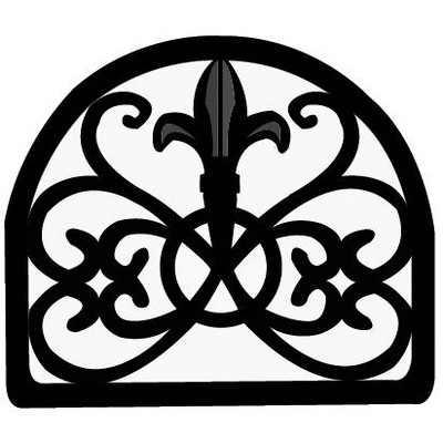 Home Basics Cast Iron Fleur De Lis Napkin Holder, Black