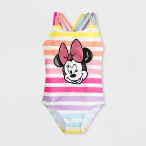 Girls' Disney Minnie Mouse One Piece Swimsuit - Pink - Disney Store