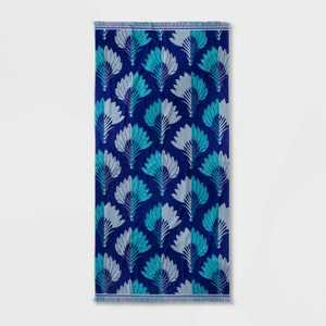 Breezy Palm Beach Towel Blue - Opalhouse™