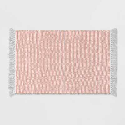 "27""x45"" Checkered Accent Rug Pink - Pillowfort™"