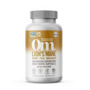 Om Mushrooms Lion's Mane Superfood Supplement - 45ct