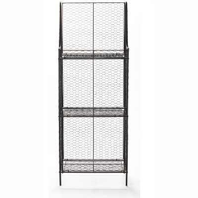 Lakeside 3-Tier Storage Shelf with Wire Metal for Pantry, Bathroom, Garage Organization