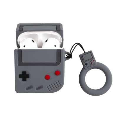Insten Cute Case Compatible with AirPods 1 & 2 - Classic Game Console Cartoon Silicone Cover with Ring Strap
