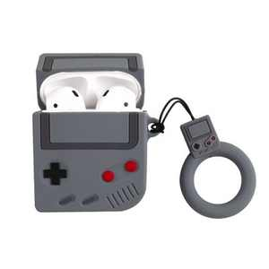 Insten Cute Case Compatible with Apple AirPods 1 & 2 - Classic Game Console Cartoon AirPod Silicone Cover Cases with Ring Strap