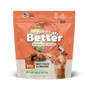 Because It's Better Sweet Potato & Cinnamon Plant Based Chewy Dog Treats - 6.1oz