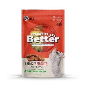 Because It's Better Cheese and Apple Crunch Protein Dog Treats - 9oz