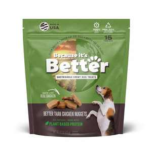 Because It's Better than Chicken Nuggets Plant Based Chewy Dog Treats - 6.1oz