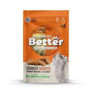 Because It's Better Peanut Butter & Coconut Plant Based Crunchy Dog Treats - 9oz