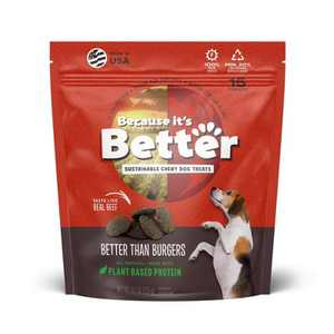 Because It's Better than Burger Plant Based Chewy Dog Treats - 6.1oz