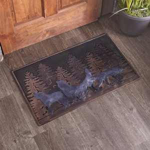 Lakeside Wildlife Rubber Doormat for Year Round Indoor/Outdoor Decoration