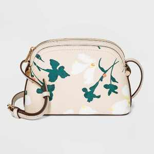 Floral Print Zip Closure Crossbody Bag - A New Day™