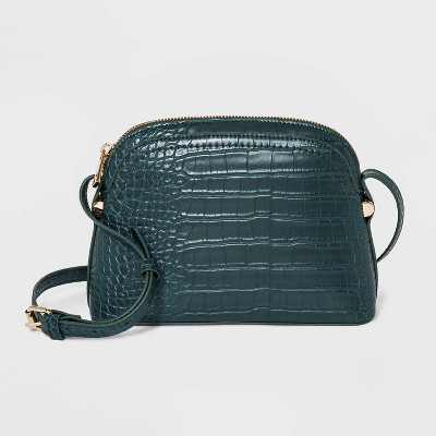 Zip Closure Dome Crossbody Bag - A New Day™ Green