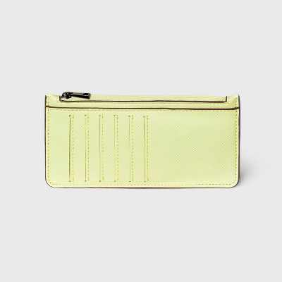 Zip Closure Large Card Case - A New Day™ Lime