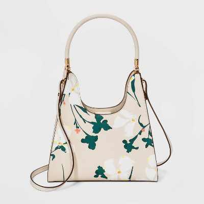 Trapezoid Mini Magnetic Closure Satchel Handbag - A New Day™