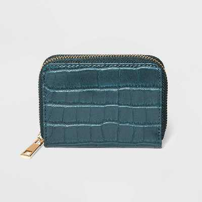 Women's Zip Closure Small Wallet - A New Day™ Green