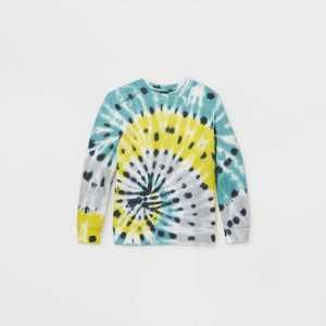 Boys' Tie-Dye Pullover Sweatshirt - art class Blue/Yellow