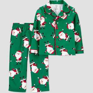Toddler Boys' Santa Coat Pajama Set - Just One You made by carter's Green