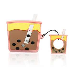 Insten Cute 3D Silicone Case For AirPods Pro, BoBa Milk Tea Cartoon Cover with Ring Strap
