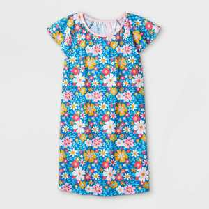 Girls' Floral Nightgown - Cat & Jack Blue