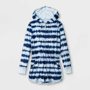 Girls' Tie-Dye Pajama Romper - Cat & Jack Blue