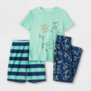 Boys' 3pc Dino Pajama Set - Cat & Jack Green