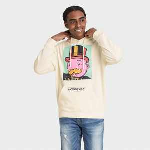 Men's Hasbro Monopoly Hooded Sweatshirt - Cream