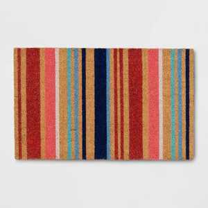 "1'6""x2'6"" Summer Striped Doormat Neutral - Opalhouse™"