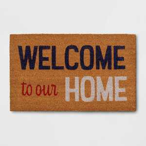 """1'6""""x2'6"""" 'Welcome To Our Home' Doormat - Sun Squad™"""