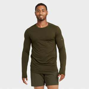 Men's Striped Soft Long Sleeve Gym T-Shirt - All in Motion