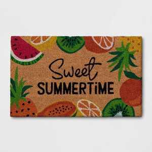 "1'6""x2'6"" 'Sweet Summertime' Fruit Doormat Natural - Sun Squad™"