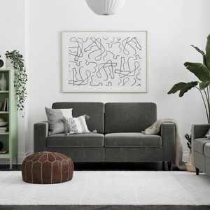 DHP Cooper Sofa, Gray Velvet
