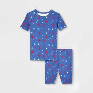 Kids' Americana Stars Matching Family Pajama Set - Blue