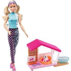 Barbie Mini Doghouse Themed Accessory Set